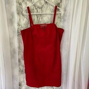 Red Strappy Dress